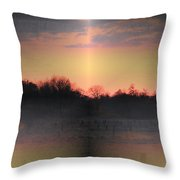 Morning Glow On A Frosty Day Throw Pillow
