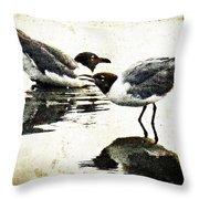 Morning Gulls - Seagull Art By Sharon Cummings Throw Pillow
