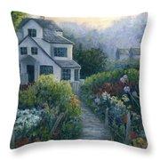 Morning In A Maine Garden Throw Pillow