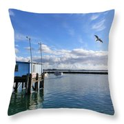 Morning In Blaine Throw Pillow