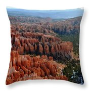 Morning In Bryce Canyon Throw Pillow