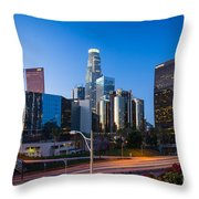 Morning In Los Angeles Throw Pillow by Inge Johnsson
