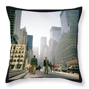 Morning In Manhattan Throw Pillow