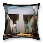 A Beautiful New York Morning Throw Pillow