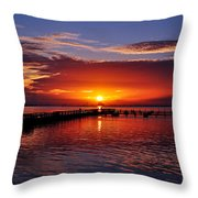 Morning In Red Throw Pillow