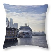 Morning In Seattle Throw Pillow