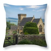 Morning In Snowshill Throw Pillow