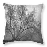 Morning In The Fog. M Throw Pillow