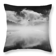 Morning In The Inlet Throw Pillow