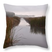 Morning In The Marsh Throw Pillow