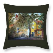 Morning In The Old Country Throw Pillow