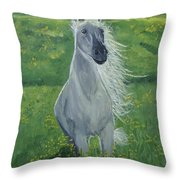 Morning In The Pasture Throw Pillow