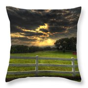 Morning In The Western North Carolina Mountains Throw Pillow