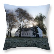 Morning In Whitemarsh - Widener Farms Throw Pillow