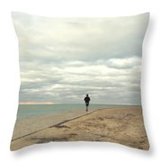 Morning Jog Throw Pillow