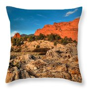 Morning Light At Garden Of The Gods Throw Pillow