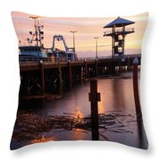Morning Light At Port Angeles Throw Pillow