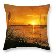 Morning Light - Florida Sunrise Throw Pillow