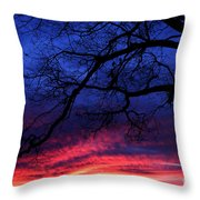 Morning Light Oak Tree Throw Pillow