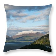Morning Light On Lake Wakatipu And The Mountains Throw Pillow