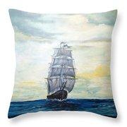 Morning Light On The Atlantic Throw Pillow