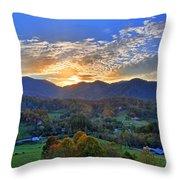 Morning Light Over Leicester Throw Pillow