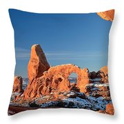Morning Looking Out The Window Throw Pillow