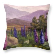 Morning Lupines Throw Pillow