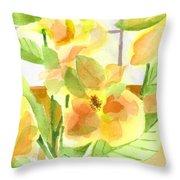 Morning Magnolias Throw Pillow
