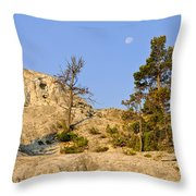 Morning Mammoth Moon Throw Pillow