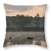 Morning Mist I Throw Pillow