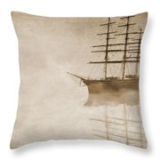 Morning Mist In Sepia Throw Pillow