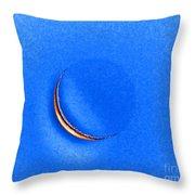 Morning Moon Blue Throw Pillow