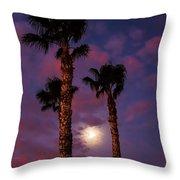Morning Moon Throw Pillow by Robert Bales