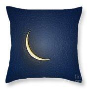 Morning Moon Textured Throw Pillow