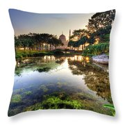 Morning Mosque Throw Pillow