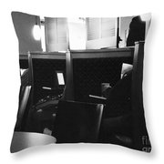 Morning News - Monochrome Throw Pillow