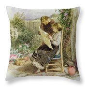 Morning News Throw Pillow