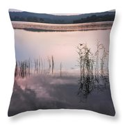 Morning Nocturne. Ladoga Lake. Northern Russia  Throw Pillow