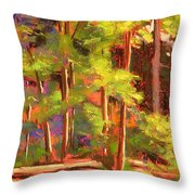 Morning On Beartree Road Throw Pillow