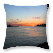 Morning On The Kill Van Kull Throw Pillow