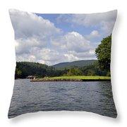 Morning On The Lake Throw Pillow by Susan Leggett