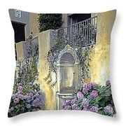 Morning On The Palazzo Throw Pillow