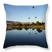 Morning On The Yakima River Throw Pillow