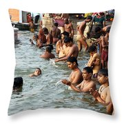 Morning Prayers And Ablutions Throw Pillow