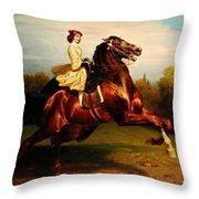 Morning Race Throw Pillow
