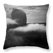 Morning Rain In Monument Valley Throw Pillow
