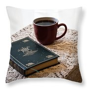 Morning Read Series 3 Throw Pillow