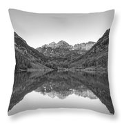 Morning Reflections Bw Throw Pillow