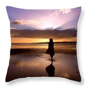 Morning Run Throw Pillow